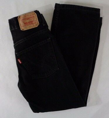 Levis 550 Relaxed Fit Boys Black Jeans Size 9 Slim 22x23