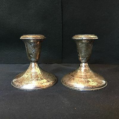 Vintage Empire #371 Weighted Sterling Candle Holders Empire #371
