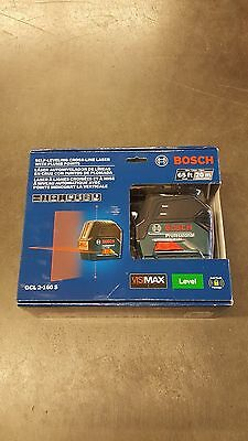 Bosch Gcl 2-160 S 65Ft Self-Levelin Cross-Line Laser W/ Plumb Points Level New