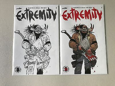 2 Hyper rare EXTREMITY #1 variant comics from IMAGE 25th ANNIVERSARY BLIND BOX