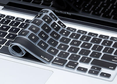"Kuzy - Keyboard Cover for MacBook Pro 13"" 15"" Silicone Skin Air 13.3 15.4  BLACK"