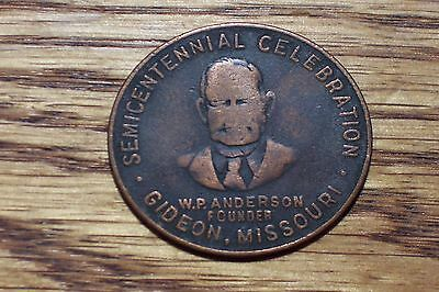 Gideon Missouri /  Unlisted So Called Dollar  1950   34mm