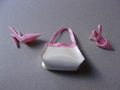 Barbie Pastel Pink High Heel Shoes & Purse Basic Model Muse Fashionistas NEW!