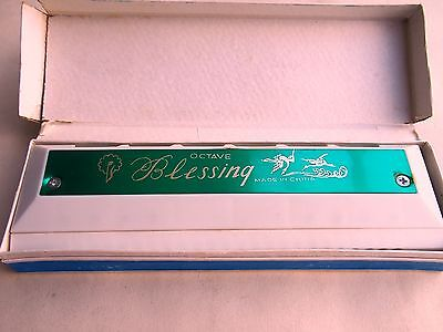 Vintage Harmonicas x2 - Blessing harmonica C & Parrot 16 hole C - made in China