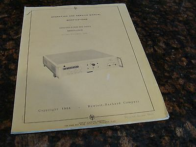 HP / Agilent H01-8403A Modulator Operating and Service Manual