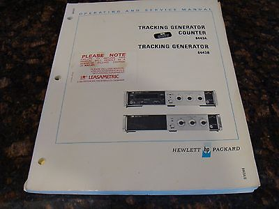 HP / Agilent 8443A / 8443B Tracking Generators Operating and Service Manual