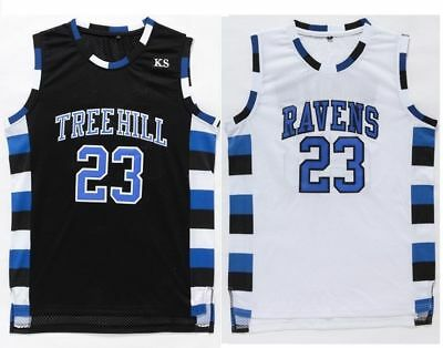One Tree Hill Nathan Scott #23 Ravens Basketball Stitched Sewn Jersey Size S-2XL