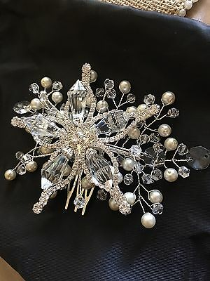 New- Bridal Hair Comb Crystal Headpiece Wedding Accessories