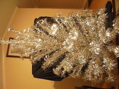 "Vintage 42620 PECO POMPOM Stainless Metal 6' 91 Branch 20"" long Christmas Tree"