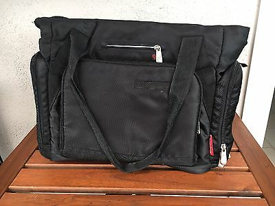 Fisher Price Fast Finder Diaper Bag- Black/red. No Changing Pad