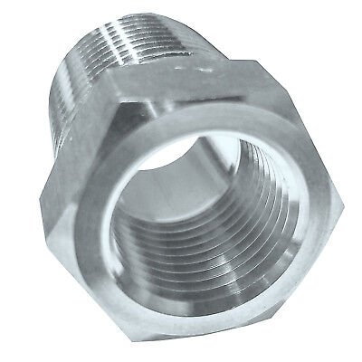 "HFS(R) Stainless Steel Reducer Bushing 3/8""Npt Male X 1/4""Npt Female"