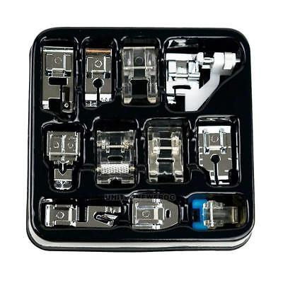 11pcs Domestic Sewing Machine Presser Foot Feet Set for Brother Singer Janome
