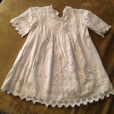 Antique White Lace Christening Dress