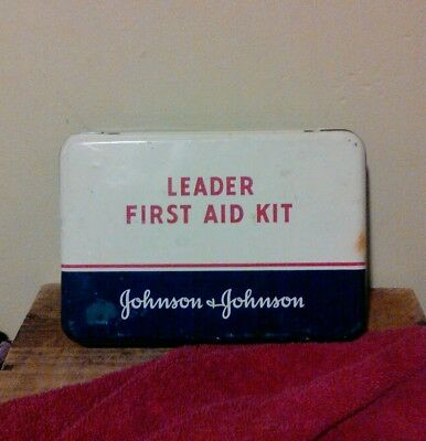 First aid kit vintage Johnson and Johnson medical kit