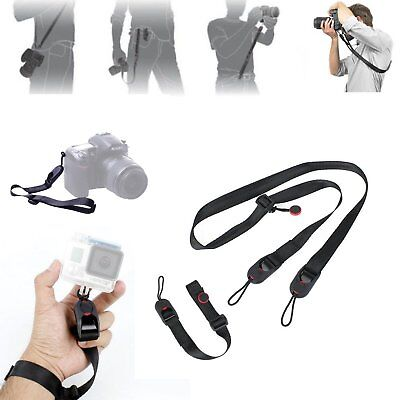 Wrist Strap Neck Shoulder Leash Quick Release Camera Sling Holder For DSLR SLR