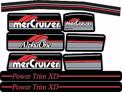 Mercruiser The New 2017 Most Complete Alpha One Gen One W/red Rams Sticker Set
