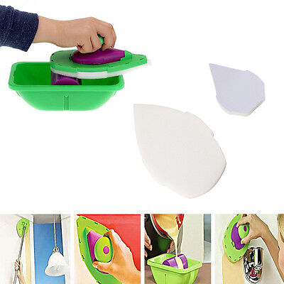 2PCS Home Point Paint Pad Painting Roller Tray Sponge Brush Wall Decor Tool AU