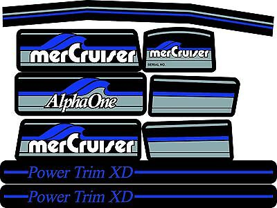 Mercruiser The Most Complete Blue Alpha One Gen One With / Blue Rams Sticker Set