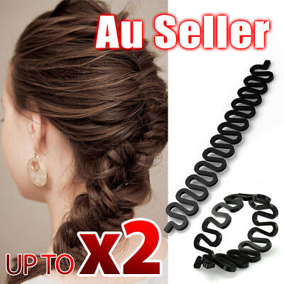 Fish Bone Hair Braiding French Braid Tool Roller Magic Twist Styling Bun Maker