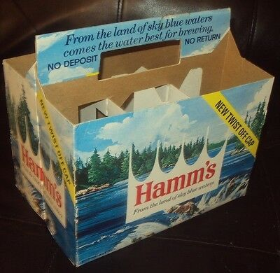 vintage hamms beer 6 pack holder