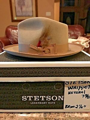"Stetson Royal Deluxe ""whippet"" Natural Size 7 3/8 Dress Fedora!"