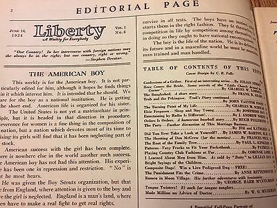 Vintage June 14, 1924: Liberty Magazine A Weekly for Everybody.