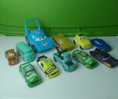 Large Lot Disney Pixar Cars Diecast Plastic Vehicles Some Rare *LOOK*
