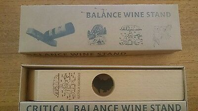 wine balance stand wooden