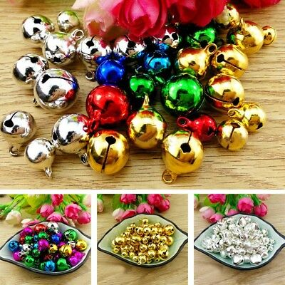 300Pcs Jingle Bells Iron Loose Beads Christmas Pendants Xmas Tinkling Decor New