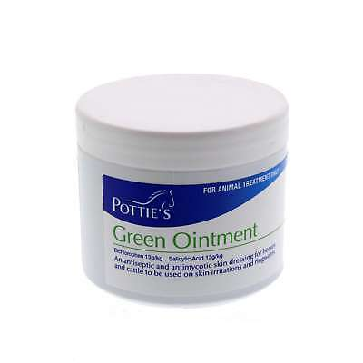 Potties Green Ointment Antiseptic Skin Dressing Horse Equine 200g