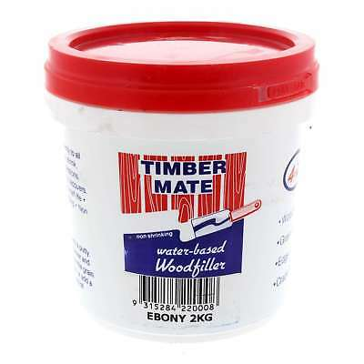 Wood Filler Water Based Non Shrinking Timbermate Ebony 2kg
