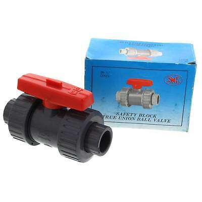 True Union Ball Valve PVC 15mm 1/2 Inch SH BSP Plumbing Irrigation Garden