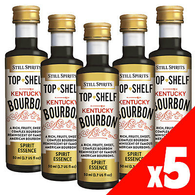 Still Spirits Top Shelf KENTUCKY BOURBON Essence x5 50ml Spirit Making Home Brew