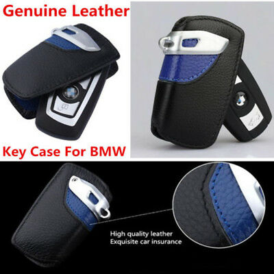 Line Genuine Leather Key Case Bag Cover Holder For BMW 3 5 7 Series for X3 HL06