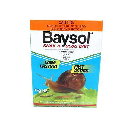 Baysol Snail & Slug Killer Long Lasting Fast Acting Mould Resistant Bayer 1kg