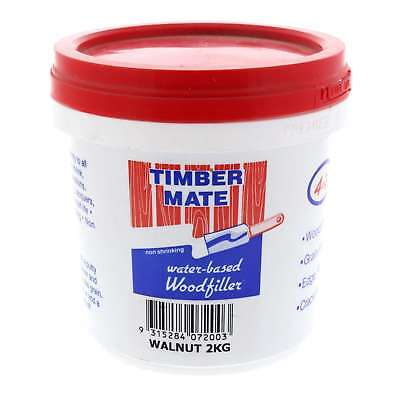 Wood Filler Water Based Non Shrinking Timbermate Walnut 2kg