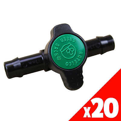 GREEN BACK VALVE 13mm Low Dens. Fittings Garden Water Irrigation 45505 BAG of 20