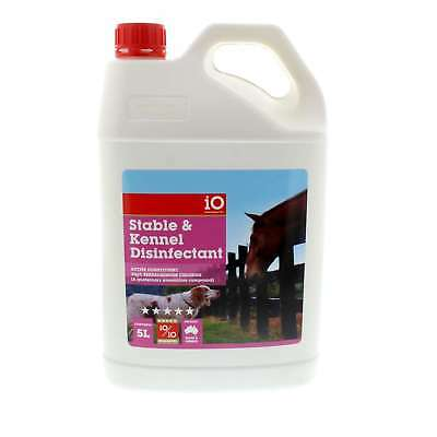 Stable and Kennel Disinfectant 5 Litre iO For Stables Kennels Aviaries Cages Etc
