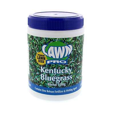 Grass Seed Kentucky Bluegrass Blend Contains Slow Release Fert. 500g Lawn Pro