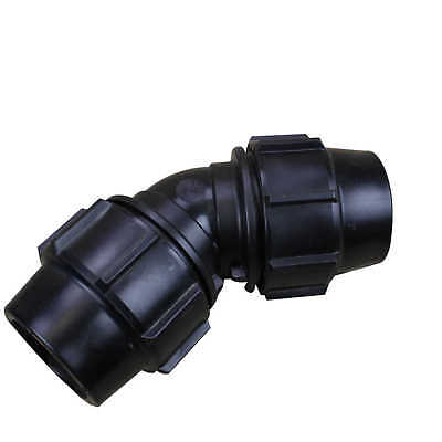 Metric Poly 45° ELBOW 50mm 69520 Water Irrigation Pressure Pipe Plasson
