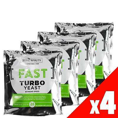 EXPRESS FAST Turbo Yeast Still Spirits 4 Pack Home Brew