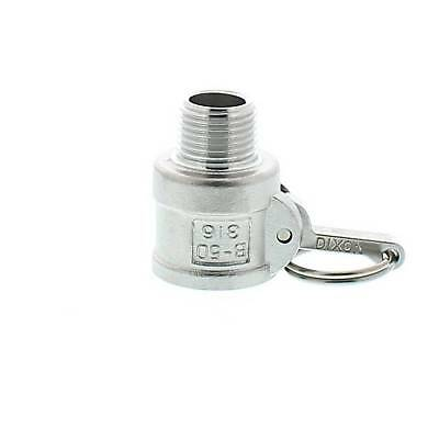 "Camlock STAINLESS STEEL 316 15mm (1/2"") Type B Female Coupler x Male BSP"
