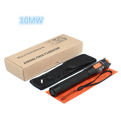10mW 10KM Visual Fault Locator Fiber Optic Laser Cable Test Equipment FR
