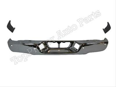 FOR Toyota Rear Bumper Chrome Face Bar Extension Side Pads W/ Hole 07-13 Tundra