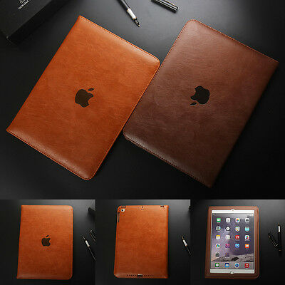 Genuine Soft Leather Smart Stand Case Cover For Apple iPad Air Pro & Mini 1 2 3