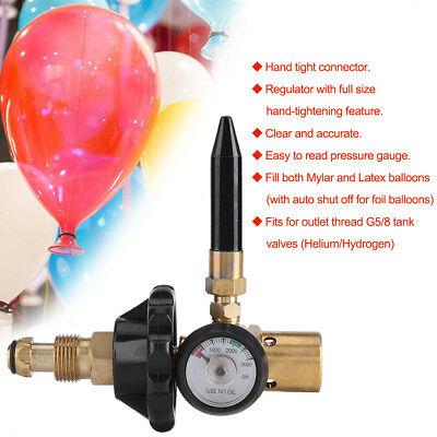 Balloon Air Flow Inflator Inflating Regulator With Gauge For G5/8 Tank Valve GW