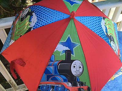 "Thomas & Friends Kid Umbrella 3D Thomas the Tank Engine Figurine ""Steam Team"""