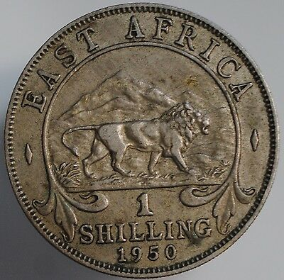 1950 George V1 East Africe 1 One Shilling coin, Copper-Nickel