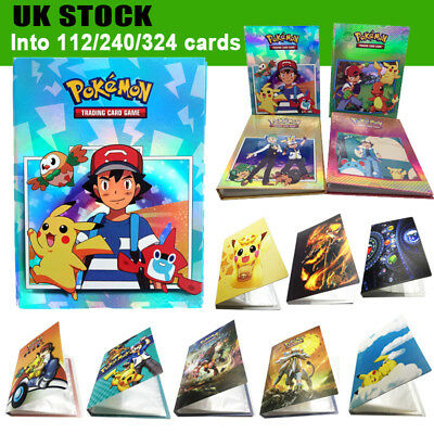 Pokemon Cards Album Book Card Collectors 112/324Pcs Capacity Cards Holder Gift