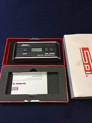 Spi Digital Protractor 360 Degree Reading Tool With Case Battery & Instructions